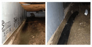 Michigan Crawlspace Remediation Drainage Systems White