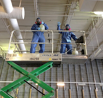 the cmir begins purifying the air and general environment of virus and bacteria, our crews begin the disinfection process